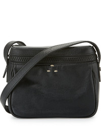 Kelsi Dagger Ainslie Leather Camera Crossbody Bag Black