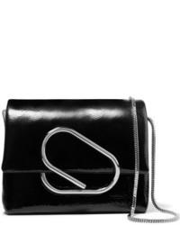 3.1 Phillip Lim Alix Micro Patent Leather Shoulder Bag Black