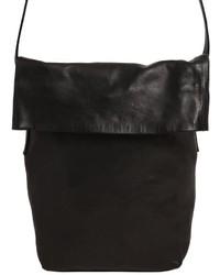 Ann Demeulemeester Folded Smooth Leather Shoulder Bag