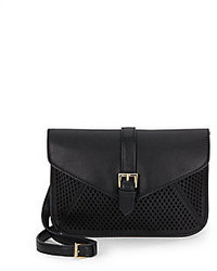 Big Buddha Ventana Laser Cut Faux Leather Crossbody