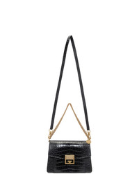 Givenchy Black Croc Small Gv3 Bag