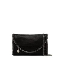 Stella McCartney Black Falabella Mini Shaggy Deer Shoulder Bag