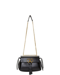 Valentino Black Garavani Small Vring Chain Shoulder Bag