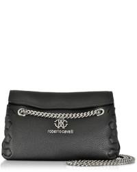 Roberto Cavalli Black Leather Crossbody Bag
