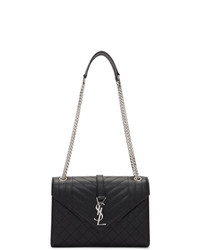 Saint Laurent Black Medium Monogramme Envelope Bag