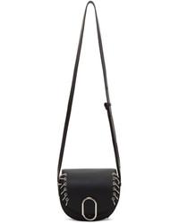 3.1 Phillip Lim Black Mini Alix Piercings Saddle Bag
