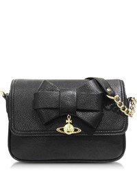 Vivienne Westwood Bow Black Eco Leather Crossbody Bag