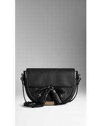 Burberry Grainy Leather Tassel Crossbody Bag