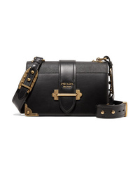 Prada Cahier Smooth And Textured Leather Shoulder Bag