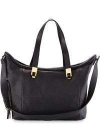 Chloé Chloe Andrea Leather Crossbody Tote Bag Black