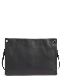 Rag & Bone Compass Pebbled Leather Crossbody Bag Black