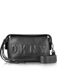 DKNY Debossed Logo Blackblack Leather Crossbody Bag