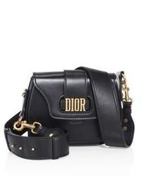 Christian Dior Dior Medium D Fence Leather Saddle Bag