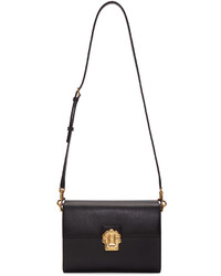 Dolce & Gabbana Dolce And Gabbana Black Iguana Embossed Lucia Shoulder Bag