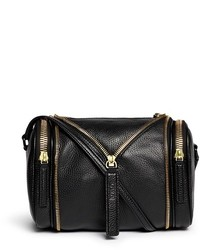 Nobrand Double Date Convertible Leather Crossbody Bag