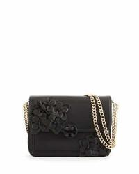 Tory Burch Duet Chain Flower Convertible Shoulder Bag Black