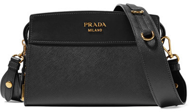 4be70870aa7ff9 Prada Esplanade Small Textured Leather Shoulder Bag Black, $1,600 ...
