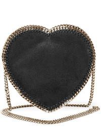 Stella McCartney Falabella Heart Crossbody Bag Black