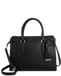 Faux Leather Belted Tote With Crossbody Strap Merona