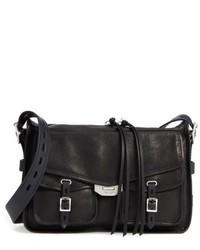 Rag & Bone Field Leather Messenger Bag Black