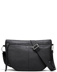 Elizabeth and James Finley Moon Leather Crossbody Bag Black