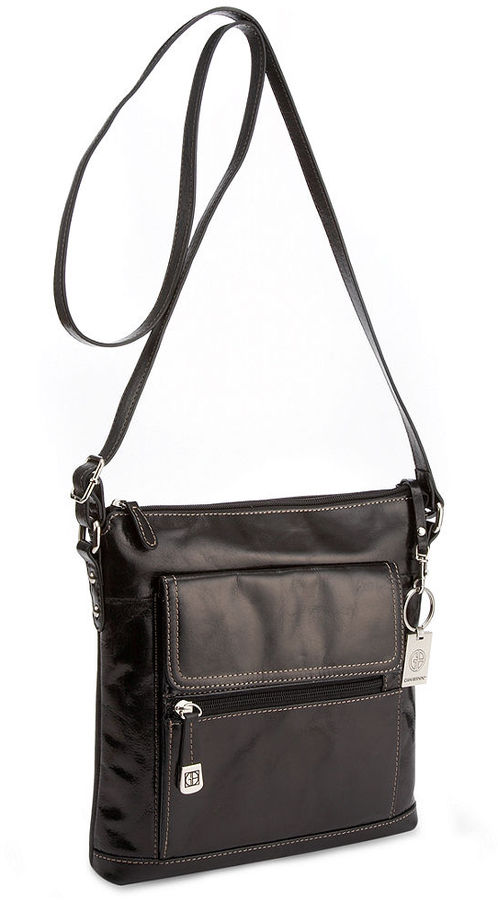 Giani Bernini Florentine Glazed Leather Venice Crossbody Only At Macys