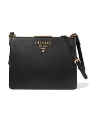 Prada Frame Textured Leather Shoulder Bag