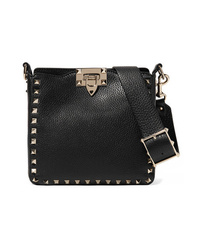 Valentino Garavani The Rockstud Hobo Mini Textured Leather Shoulder Bag