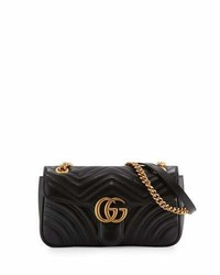 Gucci Gg Marmont Small Matelass Shoulder Bag Black