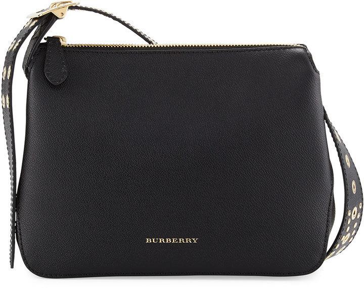 7d9096e289 Burberry Helmsley Small Eyelet Rivet Crossbody Bag Black, $1,295 | Neiman  Marcus | Lookastic.com