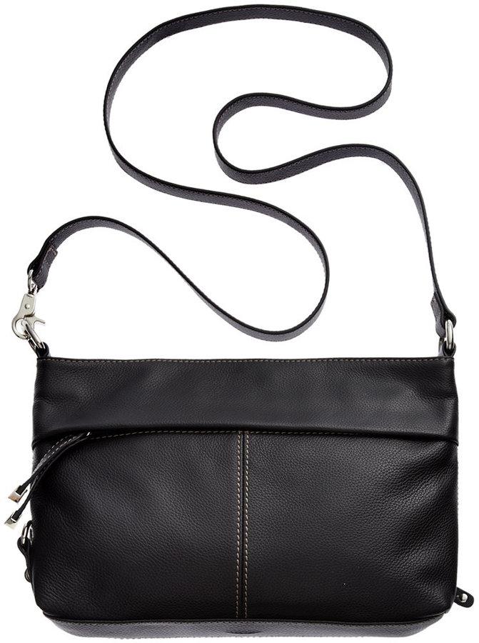 Tignanello Horizontal Leather Convertible Crossbody Bag