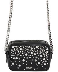 Karl Lagerfeld K Leather Studs Shoulder Bag