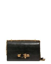 Alexander McQueen Knuckle Ring Leather Shoulder Bag