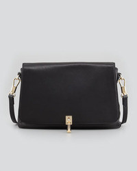 Elizabeth and James Leather Mini Crossbody Bag Black