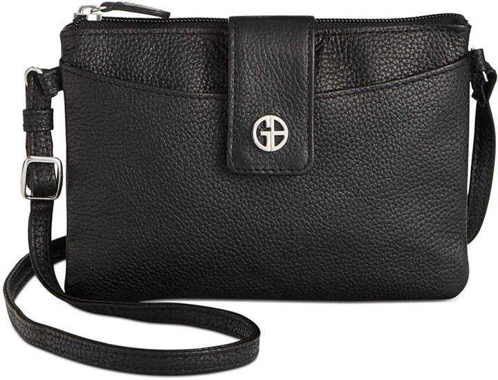 0d657b4f2ee9 ... Bags Giani Bernini Leather Softy Mini Accordion Crossbody Only At Macys  ...
