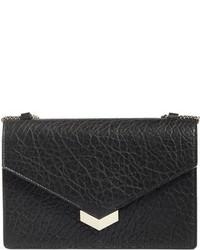 Jimmy Choo Leila Grainy Lambskin Leather Crossbody Bag Black