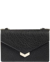 Jimmy Choo Leila Grainy Lambskin Leather Crossbody Bag Metallic