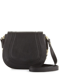 French Connection Liza Faux Leather Crossbody Bag Black