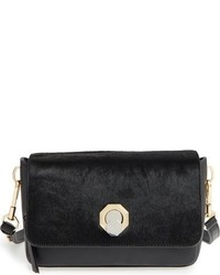 Louise et Cie Small Alis Leather Crossbody Bag Black