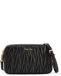Miu Miu Matelass Leather Camera Bag Black