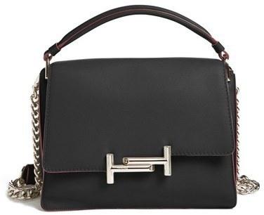 Tod's Medium Venice Calfskin Leather Crossbody Bag Black