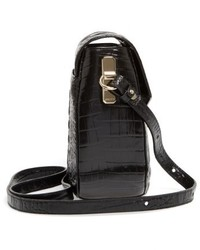 Brahmin Melbourne Lizzie Leather Crossbody Bag Black