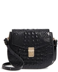 Brahmin Melbourne Lizzie Leather Crossbody Bag Black