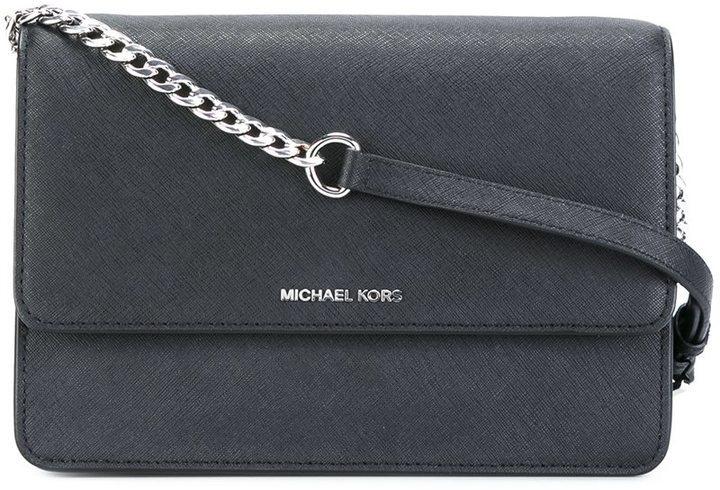 7a6e438f3c61 ... Black Leather Crossbody Bags MICHAEL Michael Kors Michl Michl Kors  Daniela Crossbody Bag