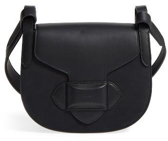 5fb089f25c72 ... Michael Kors Michl Kors Small Daria Leather Crossbody Bag Black ...