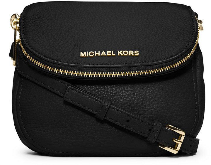 7113a472fd22 ... MICHAEL Michael Kors Michl Michl Kors Bedford Flap Crossbody Bag Black  ...