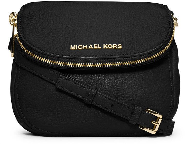 a00e9010051c ... Leather Crossbody Bags MICHAEL Michael Kors Michl Michl Kors Bedford  Flap Crossbody Bag Black ...