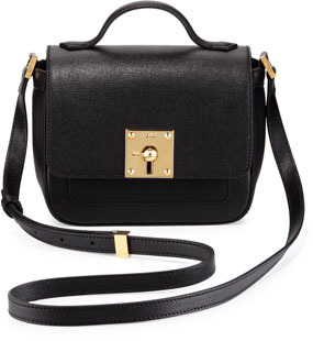 426fd0fb1b7 ... Fendi Mini Borsa Leather Crossbody Bag Black ...
