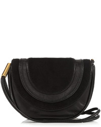 Diane von Furstenberg Mini Bullseye Leather Messenger Cross Body Bag