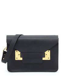 Sophie Hulme Mini Envelope Crossbody Bag Black